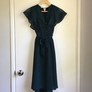 Blue Fossil summer dress with flutter sleeves